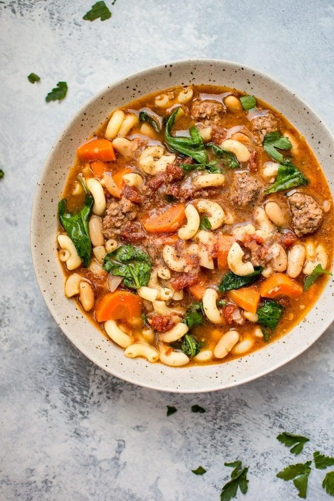 Crockpot Italian Sausage Soup