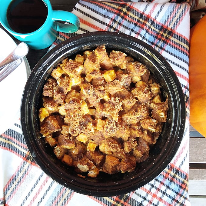 Pumpkin Pie French Toast Bake
