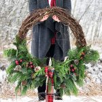Christmas Grapevine Evergreen Wreath