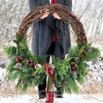DIY Evergreen Christmas Wreath