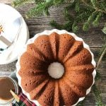 Sticky Date Pudding Bundt Cake with Toffee Sauce