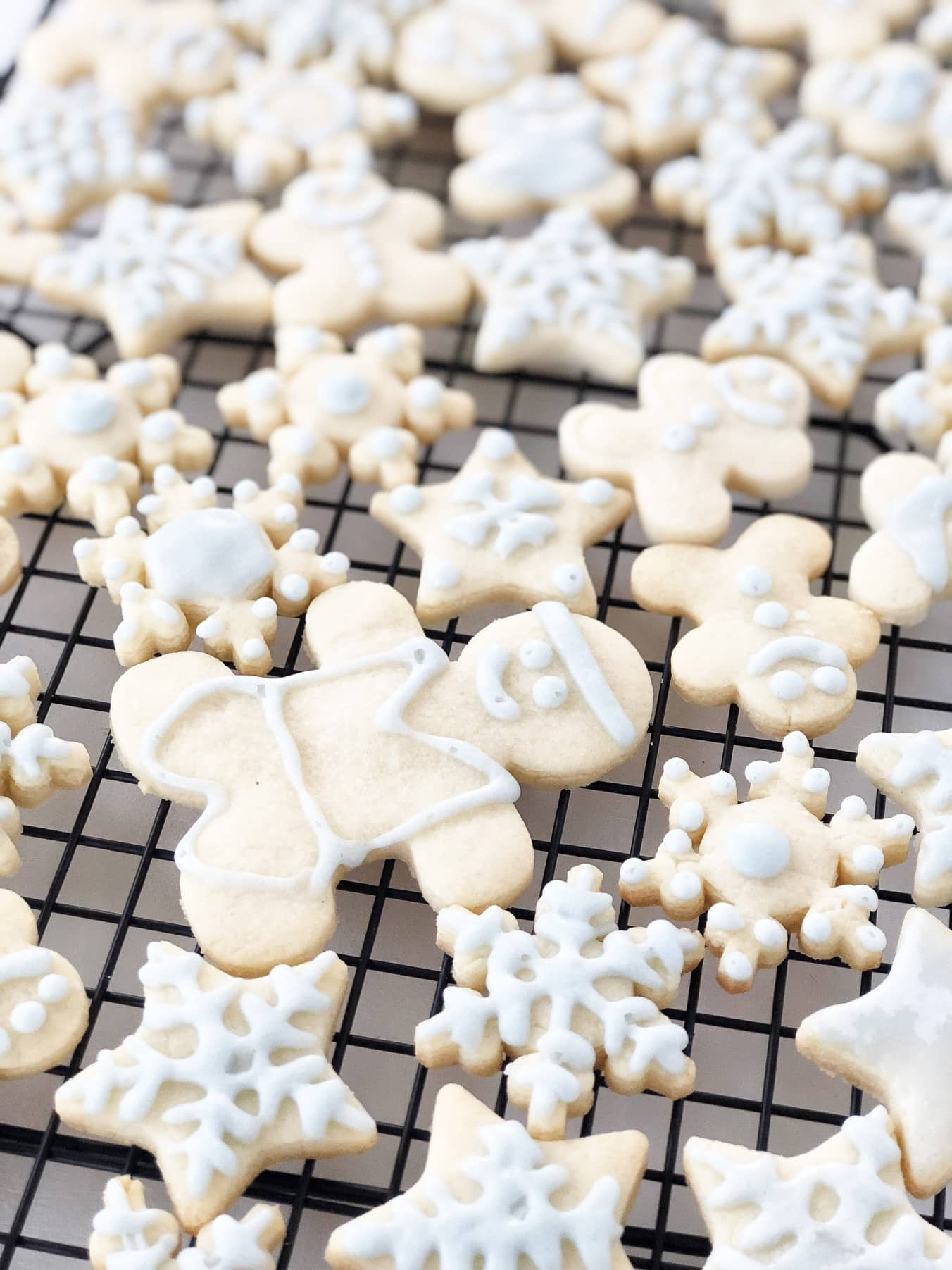 Iced Winter Sugar Cookies