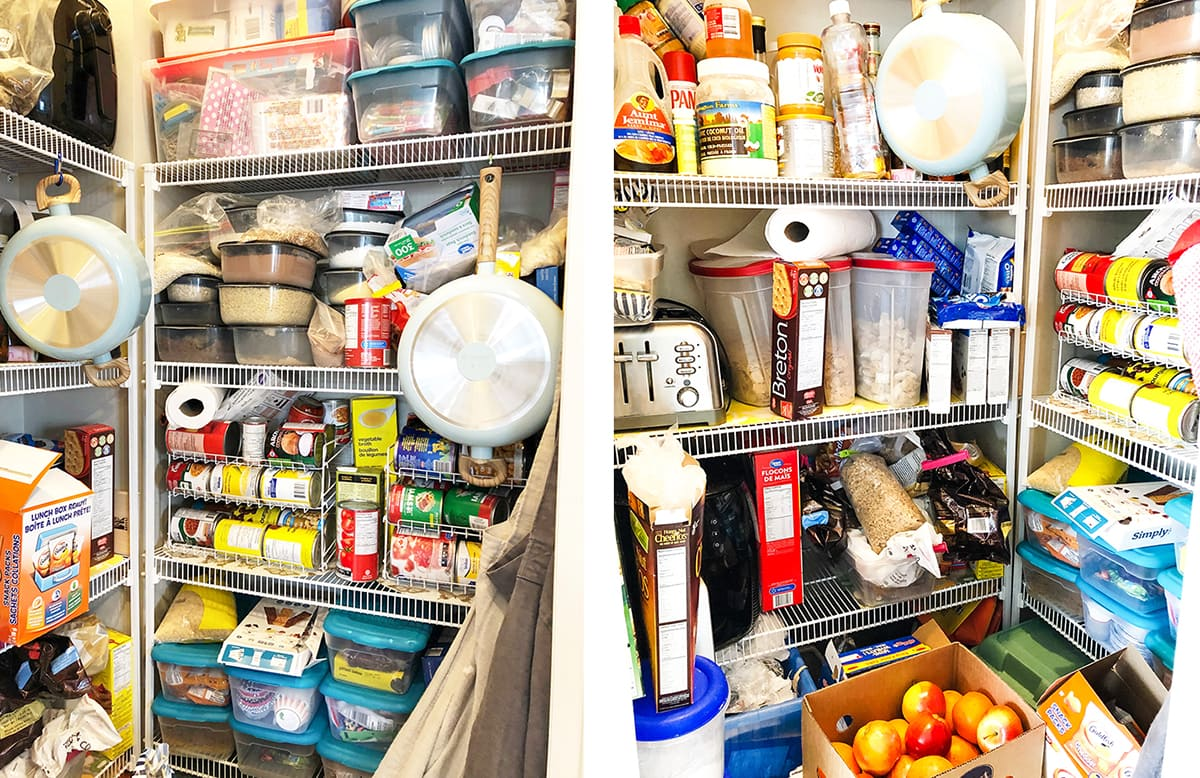 Pantry Organization for Real Life BEFORE