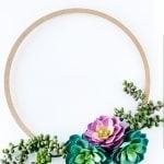 A Simple Spring Succulent Wreath