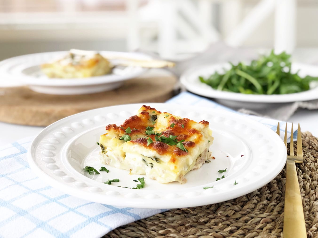 Easter Dinner Menu Idea: Creamy White Turkey Lasagna