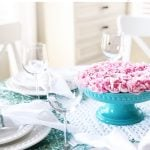 Pretty Pink and Teal Easter Table Setting