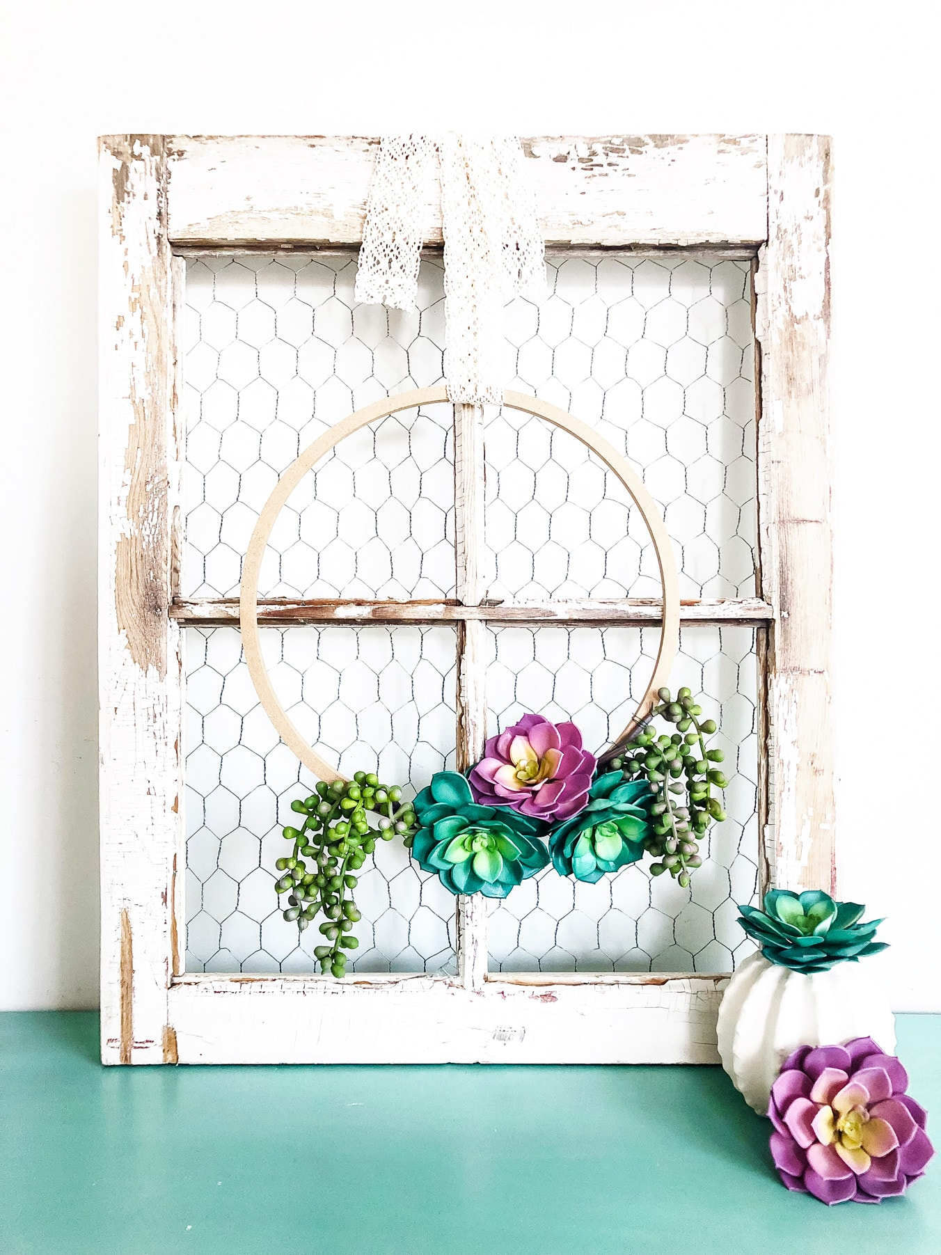 Simple Succulent Wreath for Spring-2