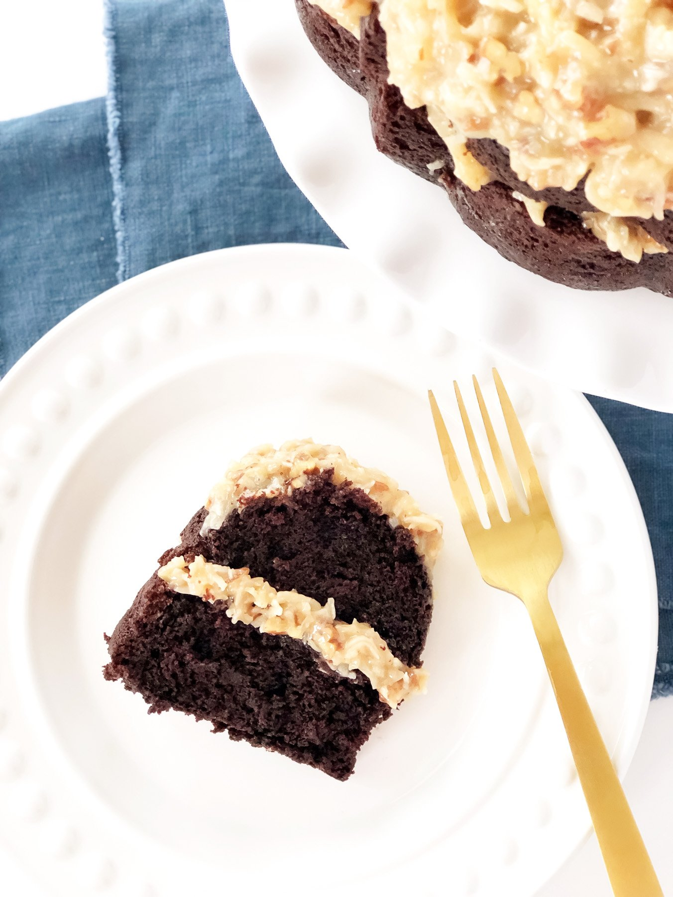 The Most Chocolatey German Chocolate Cake