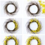 How to Make a Forsythia Wreath for Spring