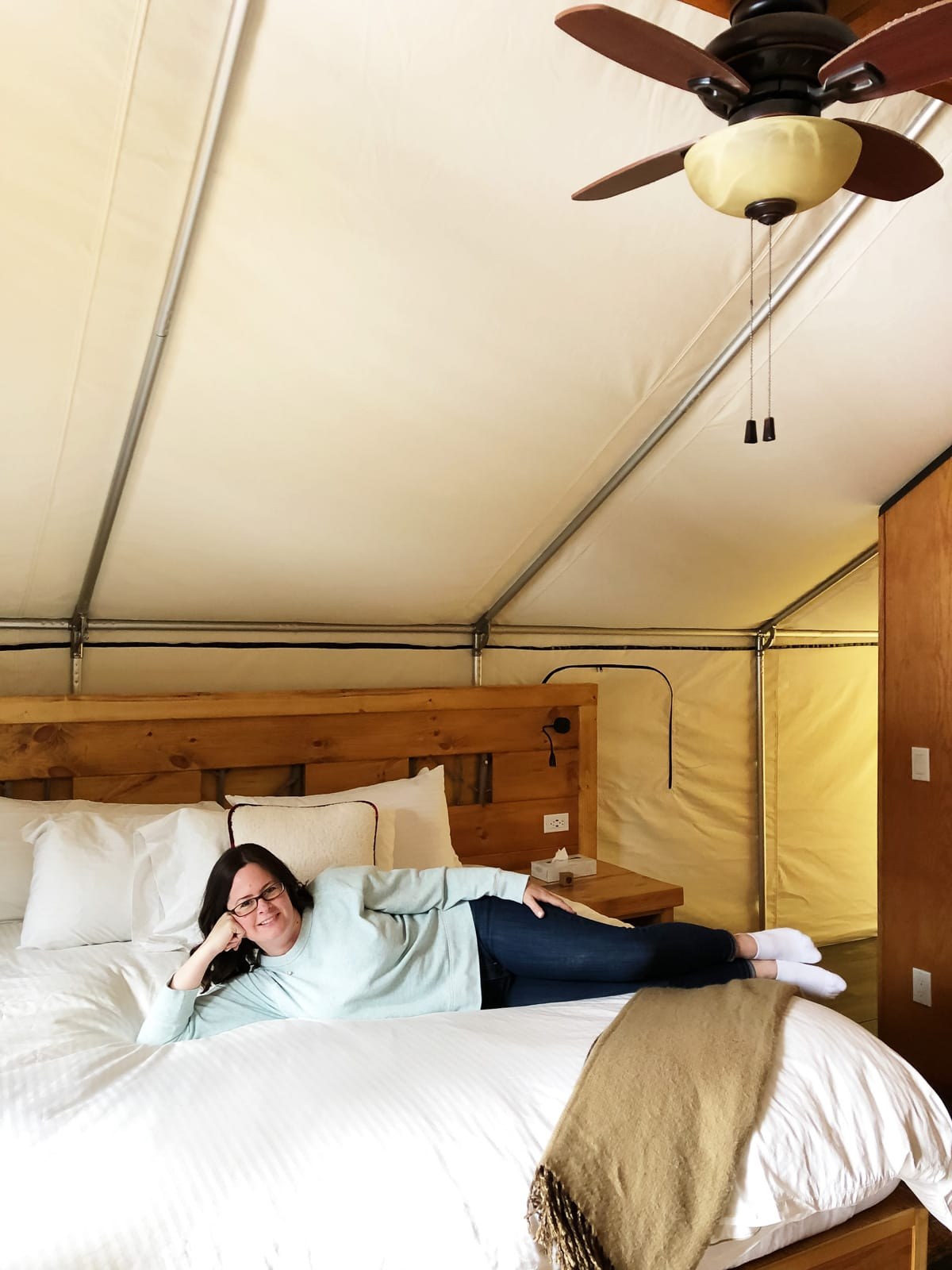 Glamping Tent at Mount Engadine Lodge