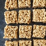 No Bake Peanut Butter Cheerio Squares