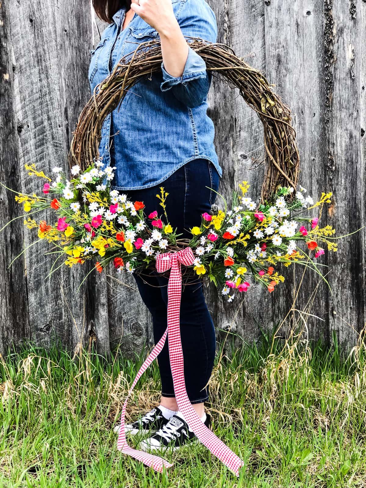 Summer Wildflower Wreath A Pretty Life In The Suburbs