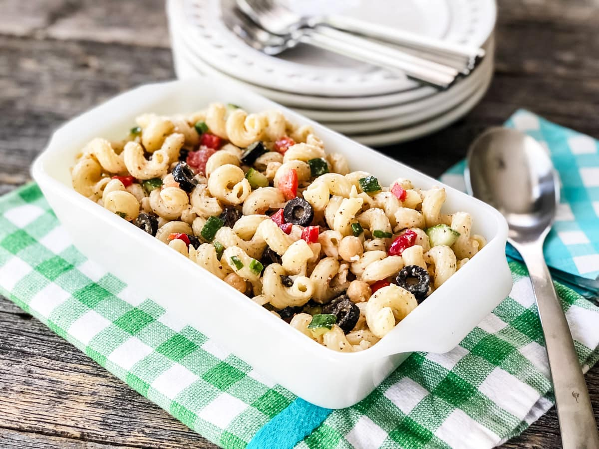Easy Pasta Salad with Homemade Italian Dressing