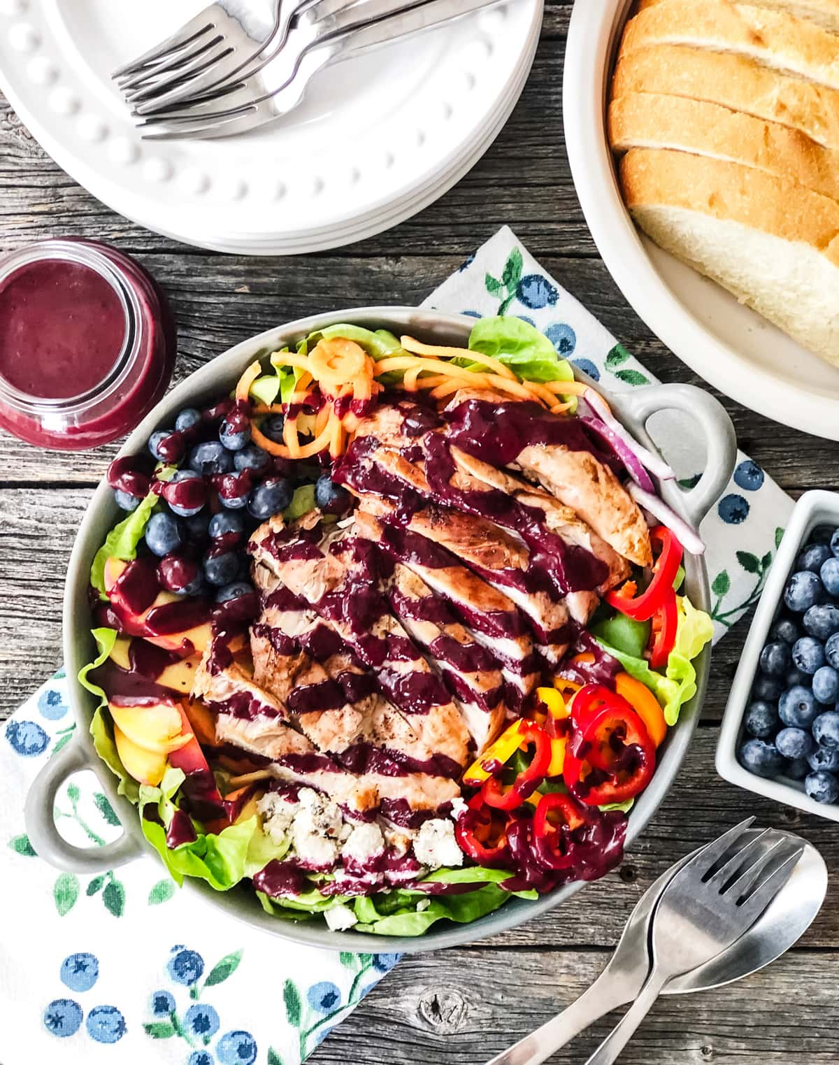 Blueberry Balsamic Grilled Turkey Salad