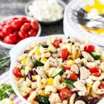 Greek Pasta Salad with Chicken
