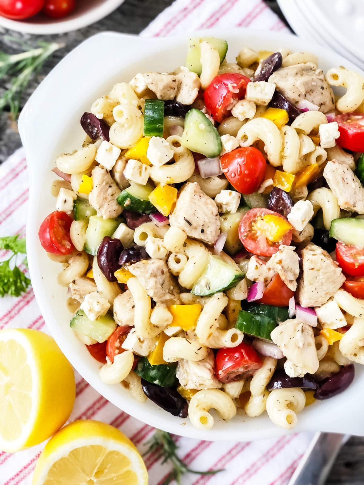 Simple Ways to Stretch Your Meals: Make a pasta salad with leftover pasta and cooked chicken