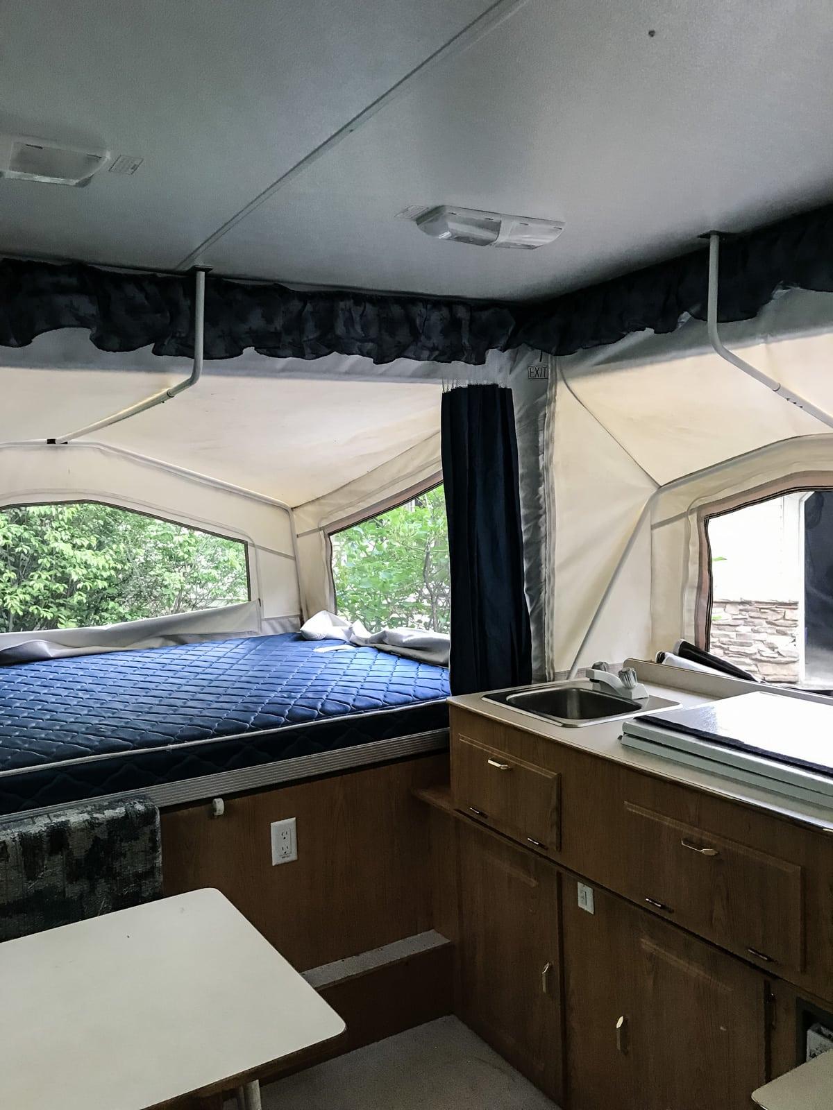 Our DIY Pop Up Camper Makeover: BEFORE