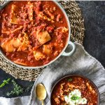 One-Pot Turkey Lasagna Soup