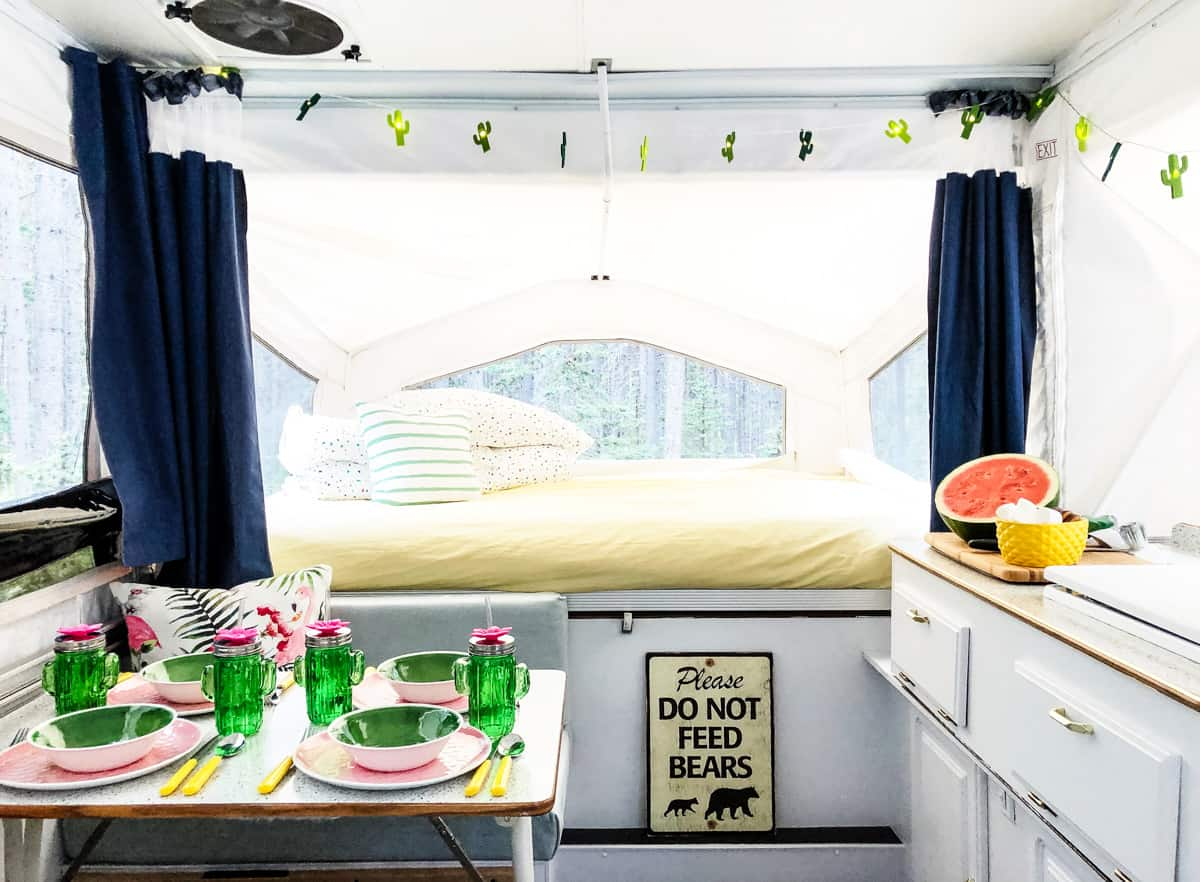 Our 400 Pop Up Camper Makeover A Pretty Life In The Suburbs