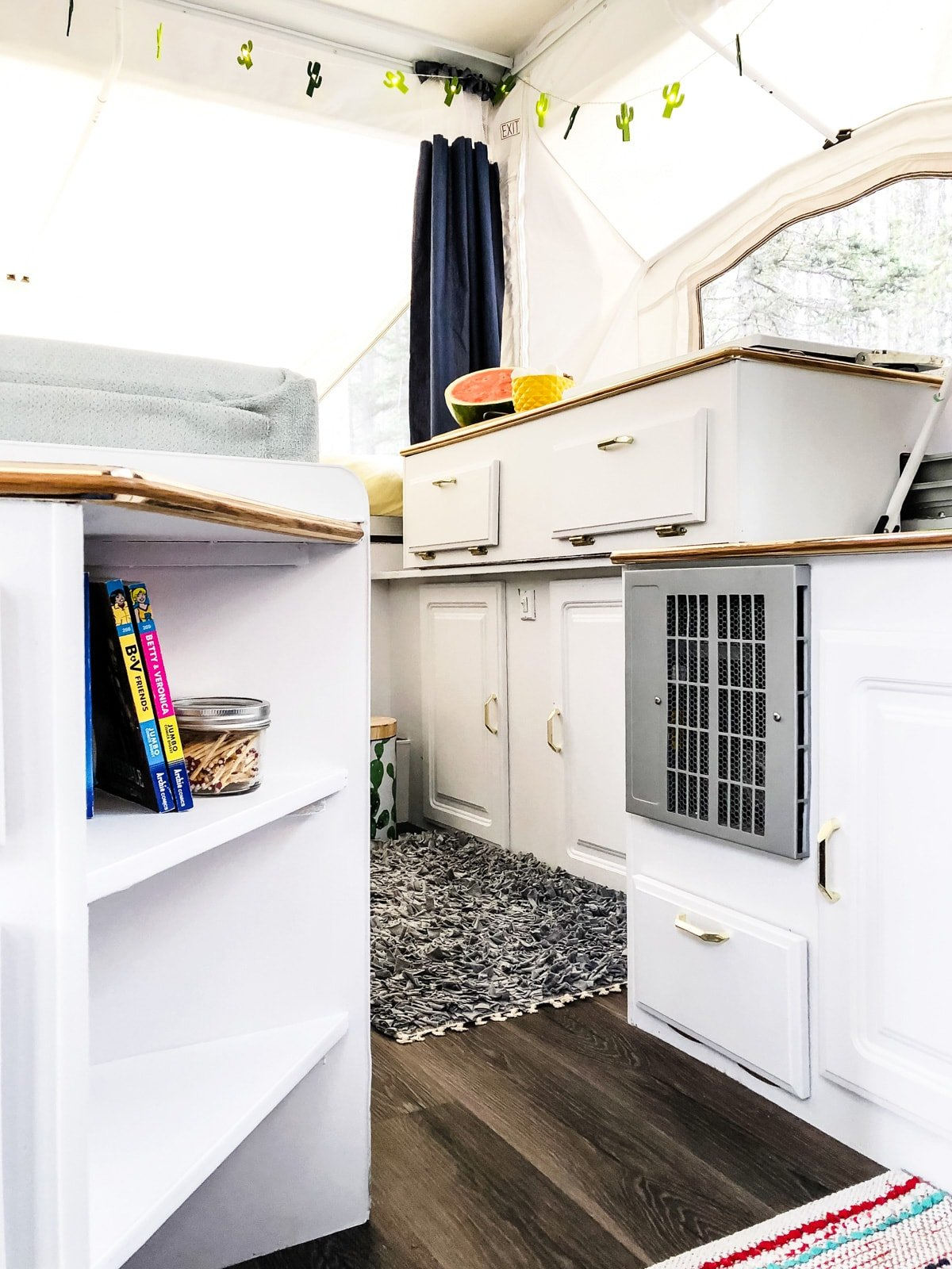 Our DIY Pop Up Camper Makeover: The Reveal // A Pretty Life