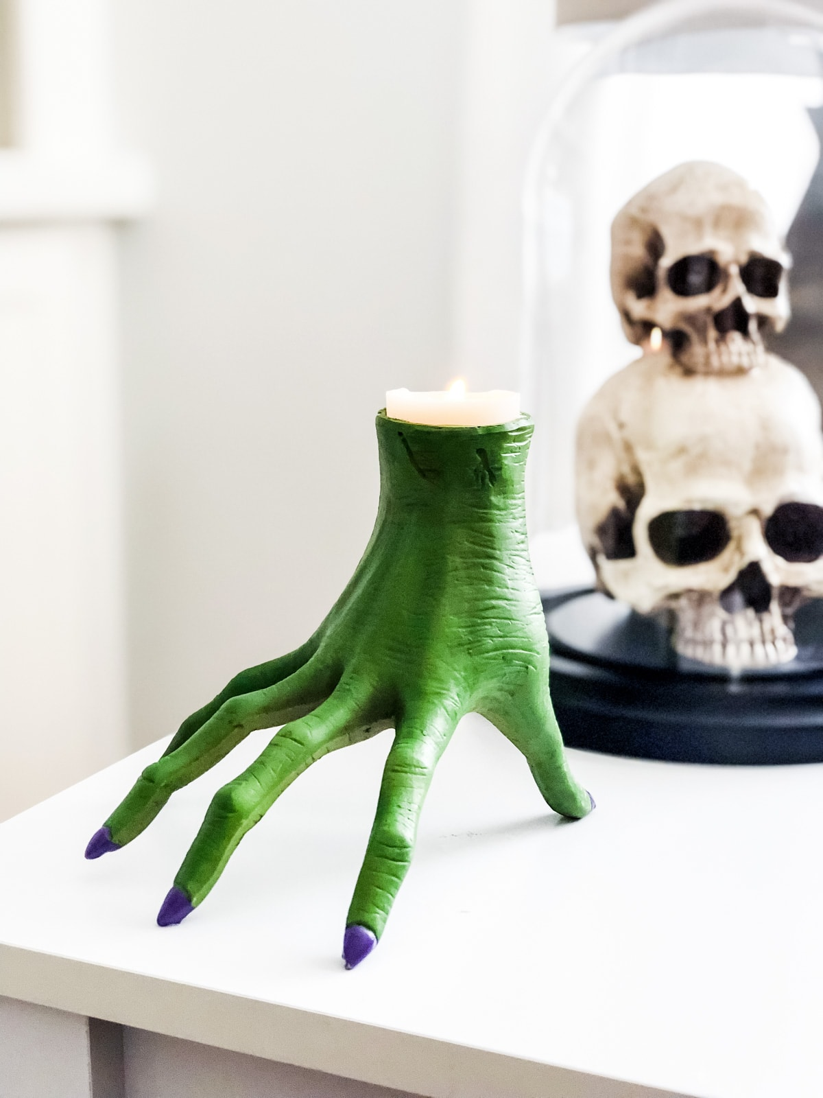 Love this candle holder! So spooky!