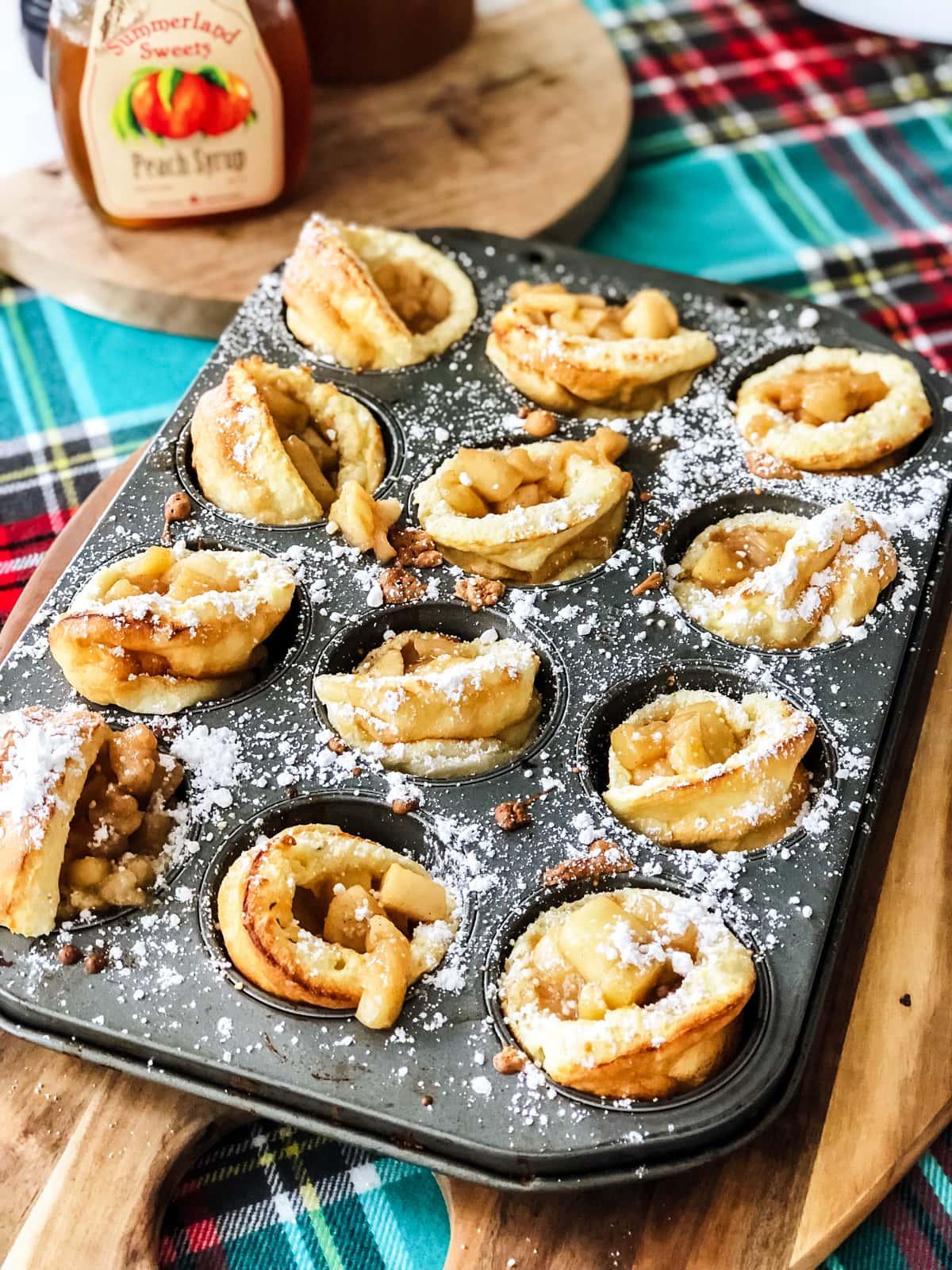 Mini Apple Pie Dutch Baby Pancakes