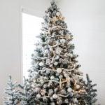 A Pretty White Christmas Tree