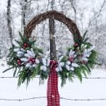 DIY Giant Evergreen Christmas Wreath