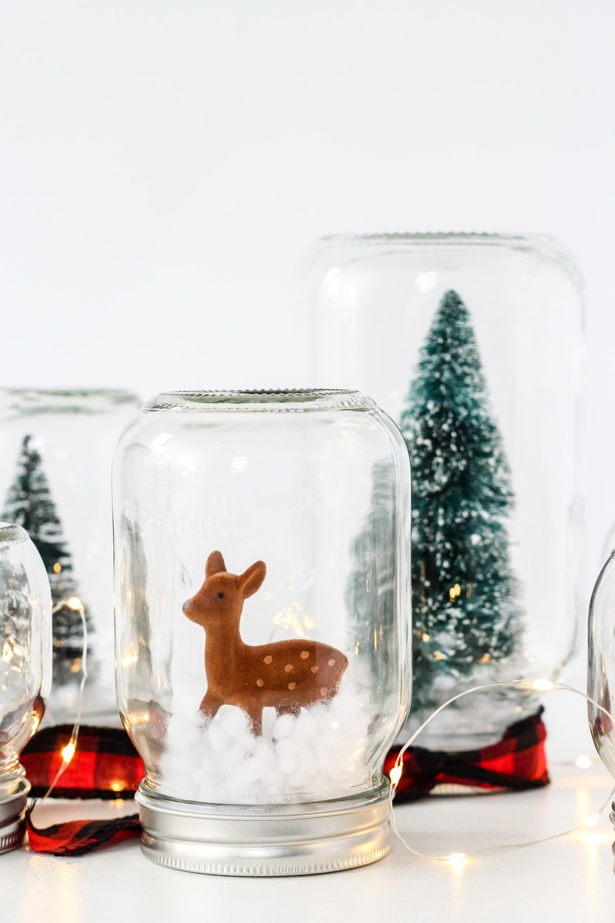 Diy Winter Wonderland Snow Globe Forest A Pretty Life In The Suburbs