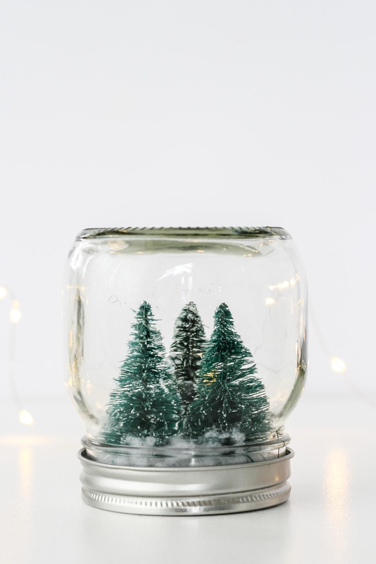 DIY Winter Wonderland Snow Globe