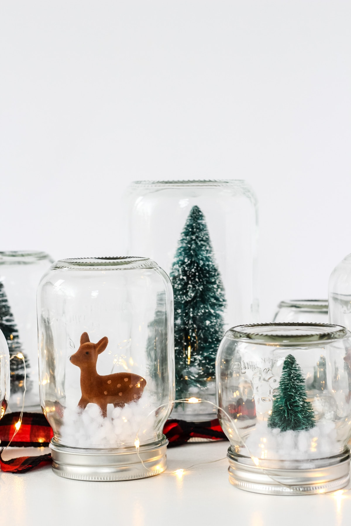 DIY Winter Wonderland Snow Globe Forest