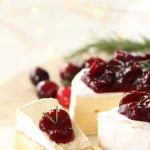 Cranberry Balsamic Chutney Brie Appetizer