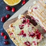 Cranberry Orange Loaf with Orange Glaze