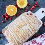 Cranberry Orange Loaf with Orange Glaze