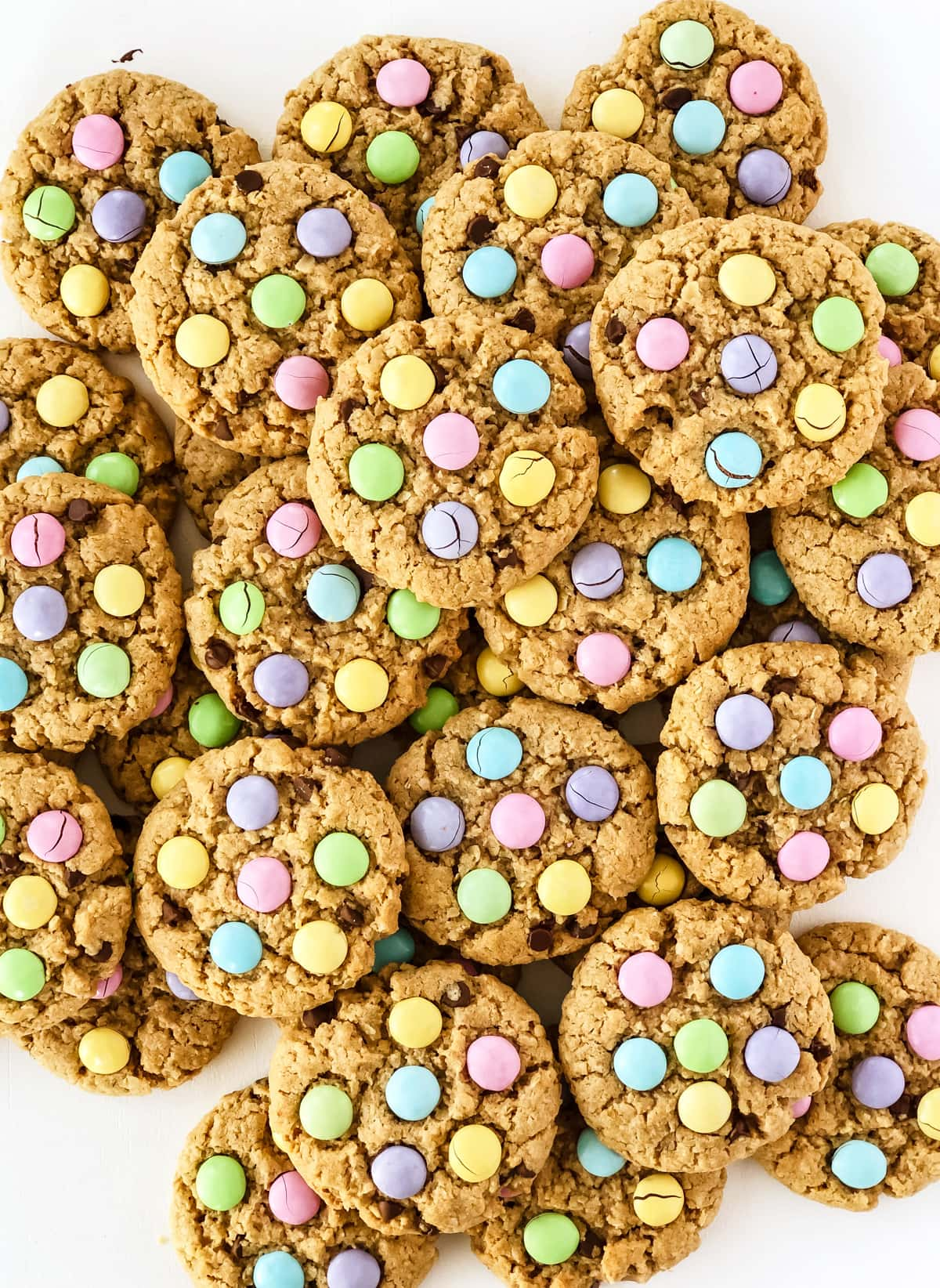 Peanut Butter Oatmeal Easter Cookies