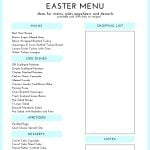 Free Printable and Clickable Easter Menu