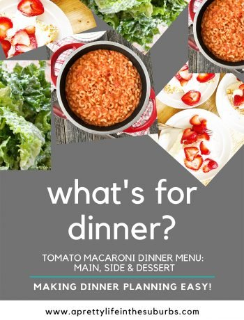 Tomato Macaroni Dinner Menu