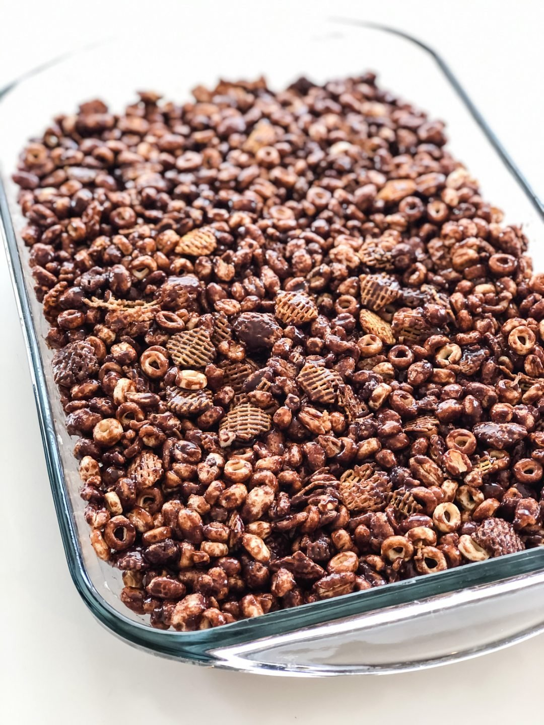 No Bake Chocolate Cereal Squares
