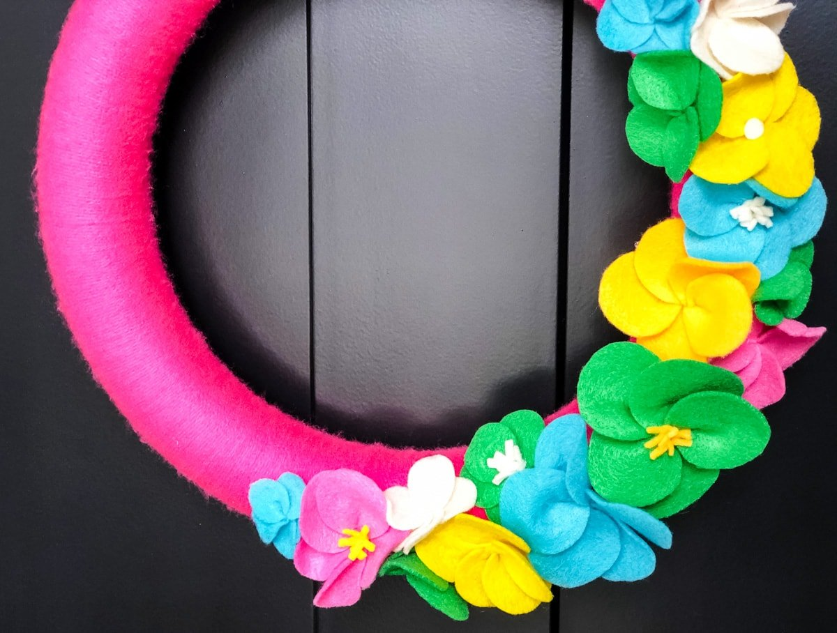 Bright and Cheery Summer Yarn Wreath