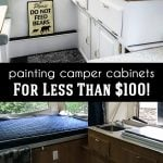 Painting Camper Cabinets for Less than $100