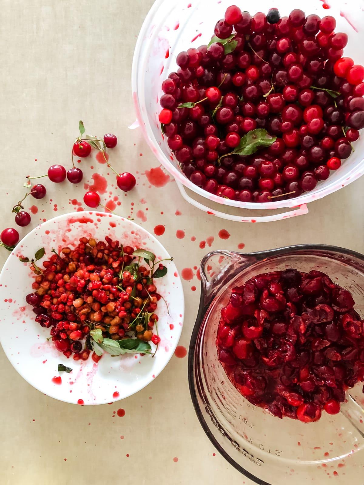 Pitting Sour Cherries