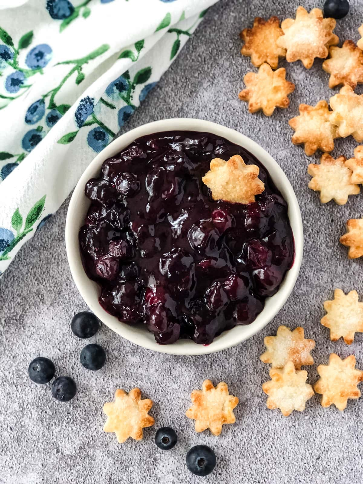 Blueberry Pie Dip with Pie Crust Dippers