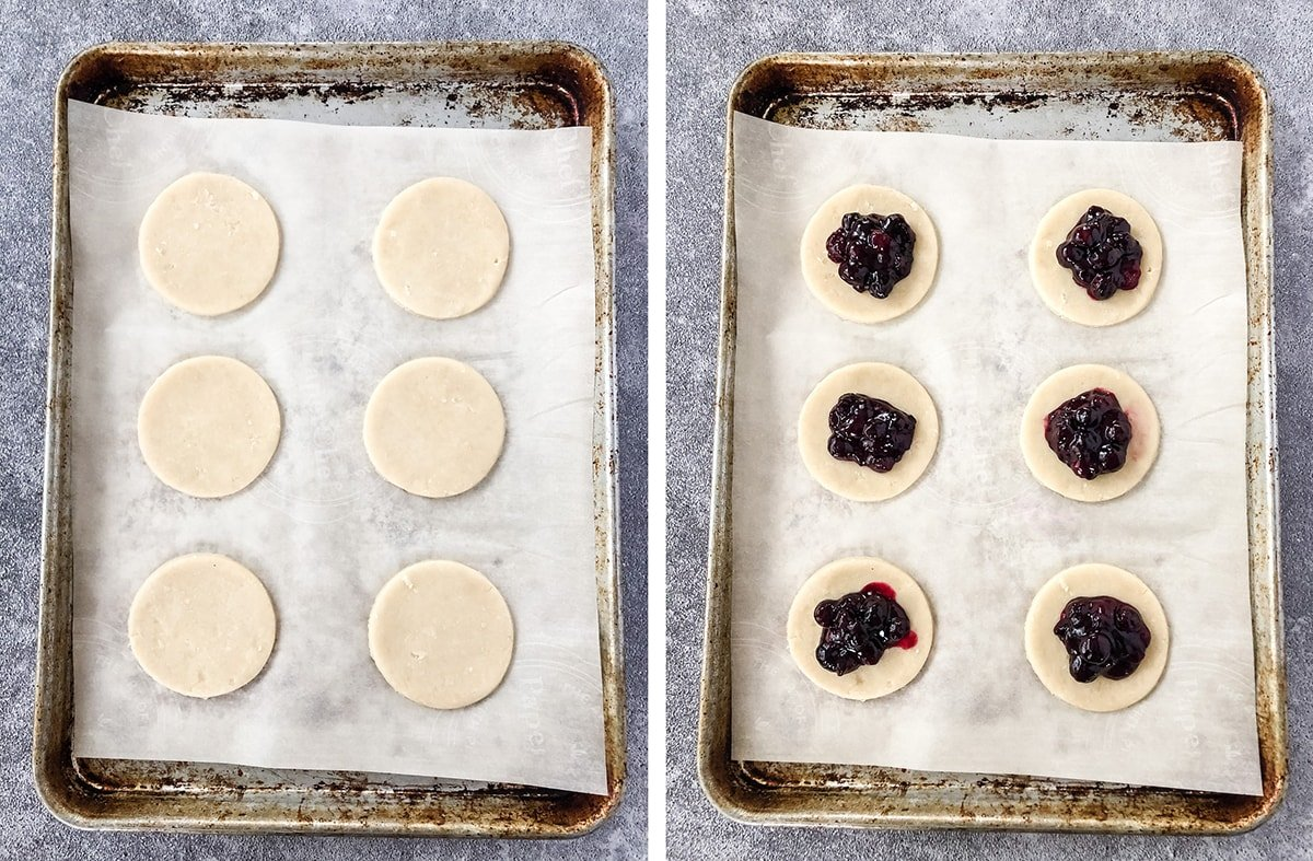 Making Blueberry Hand Pies
