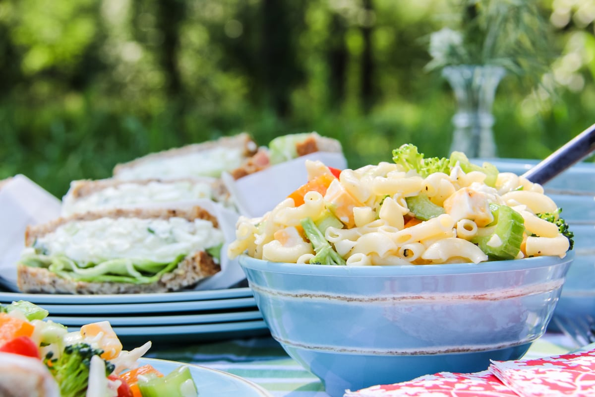 Easy Picnic Recipes:  Packable Pasta Salads