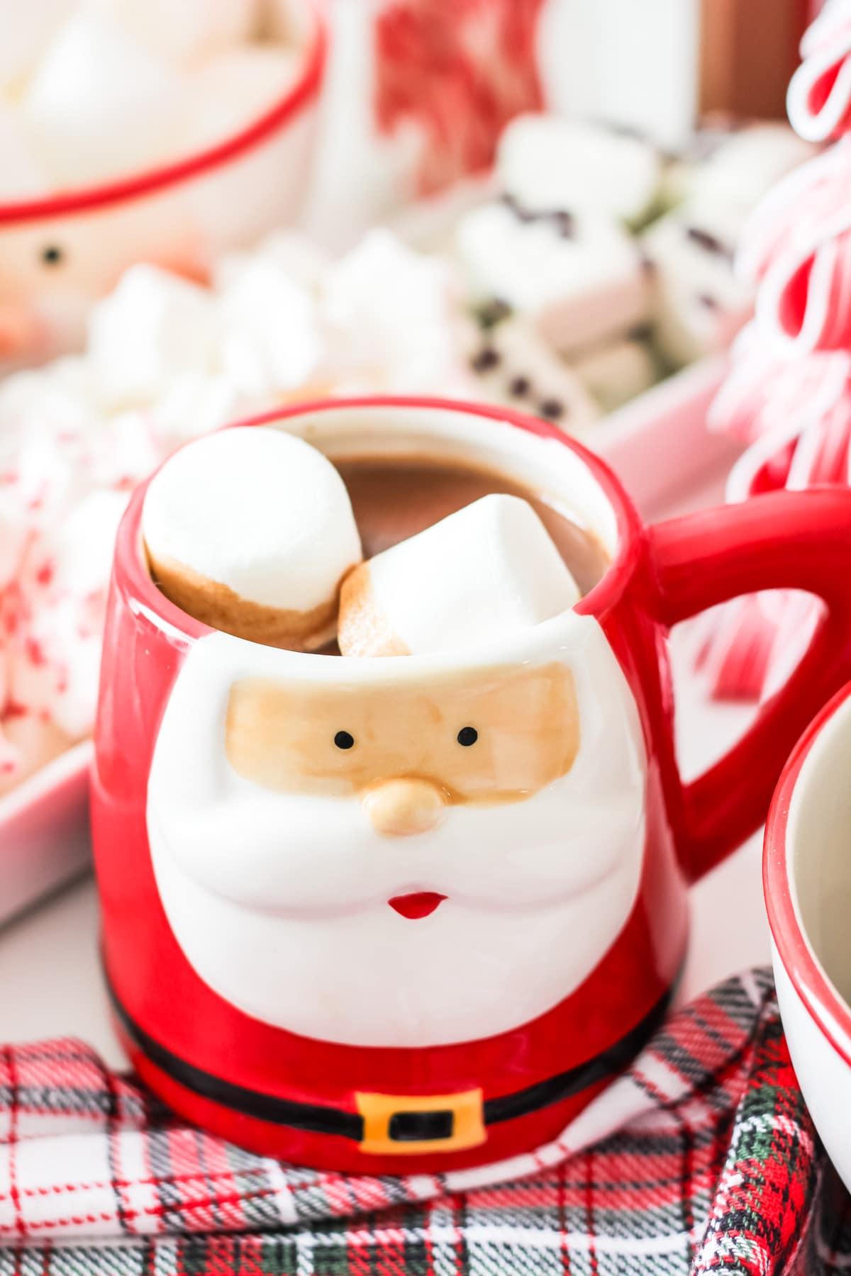 A santa mug
