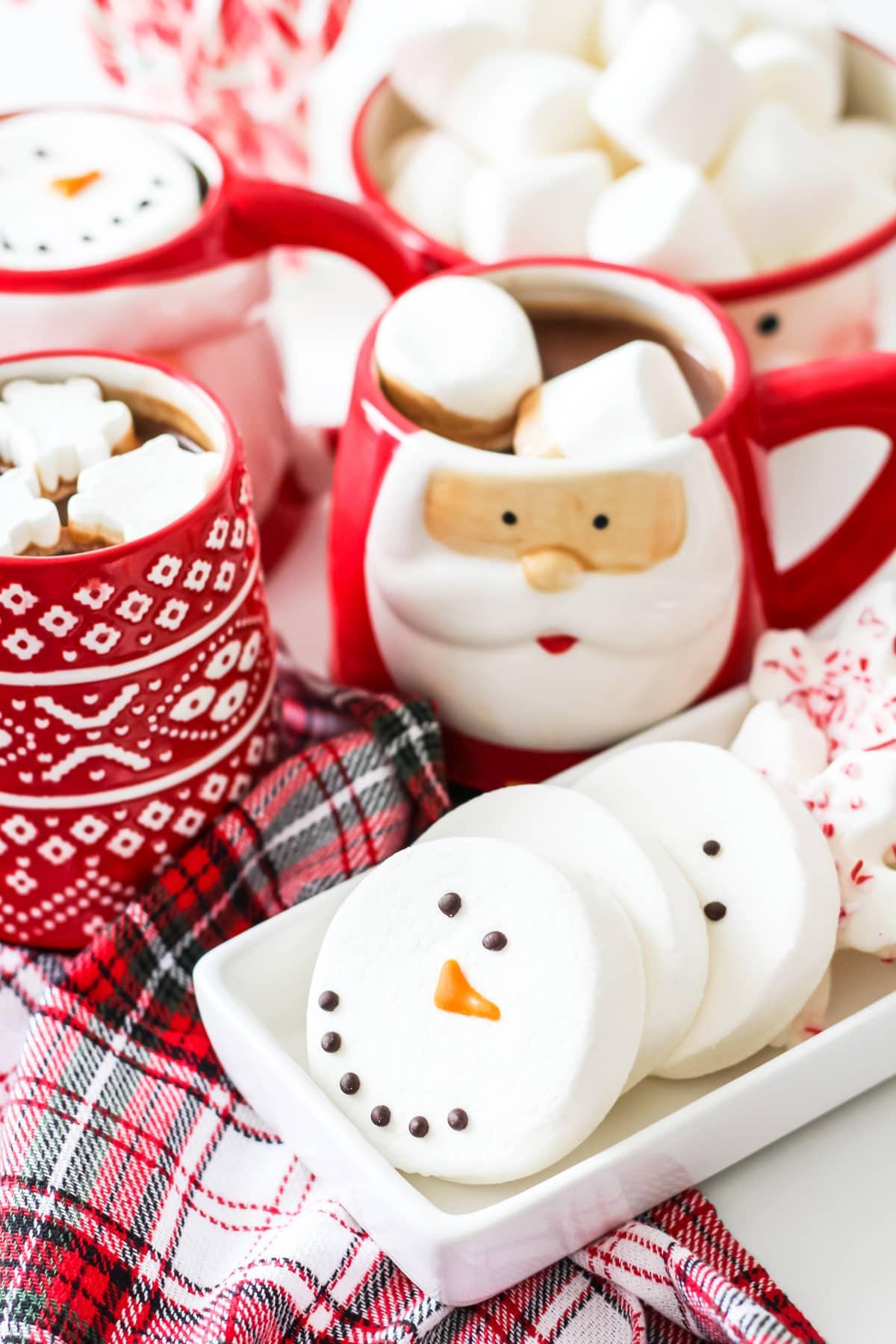 Snowman face marshmallows