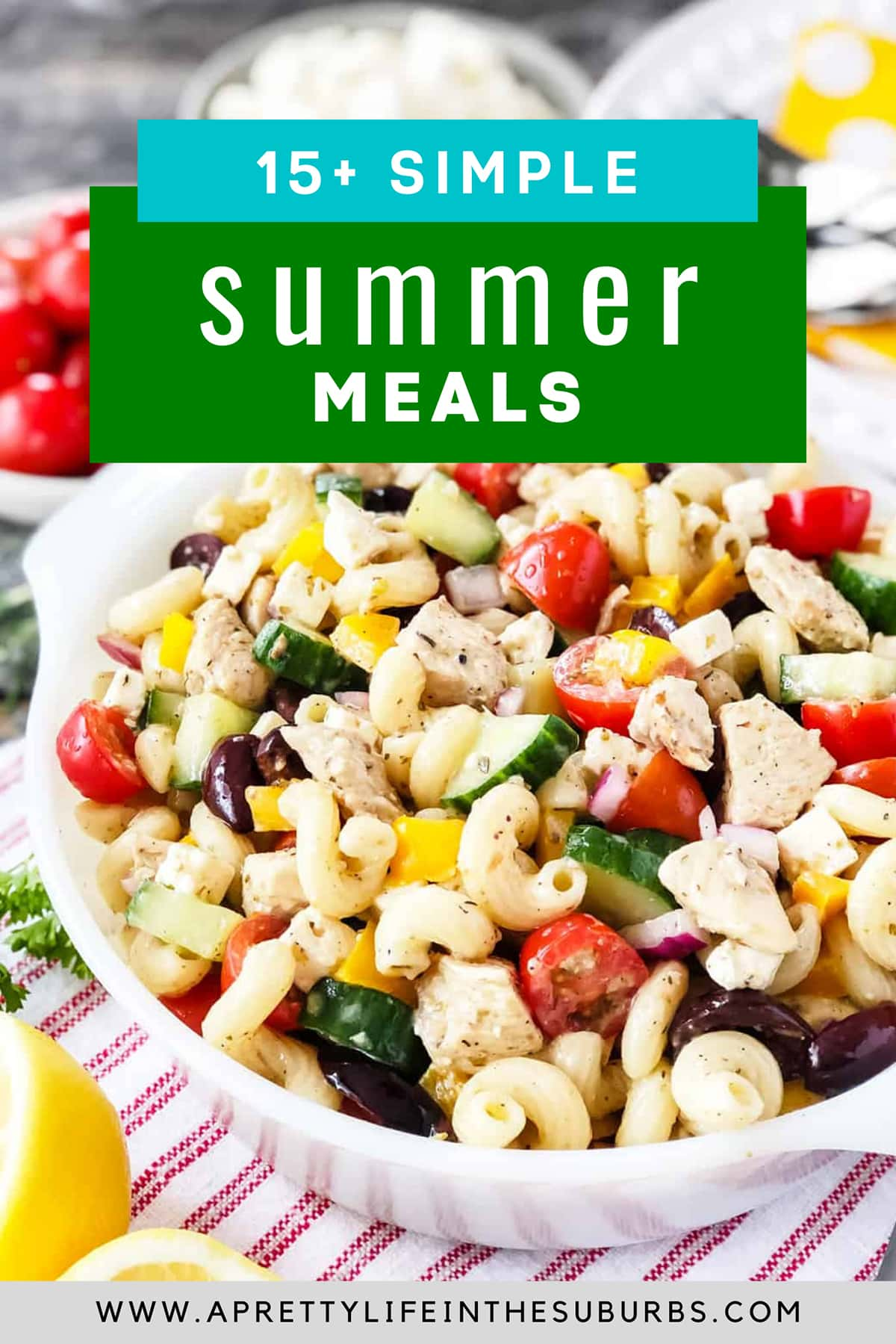 feature image for simple summer meals